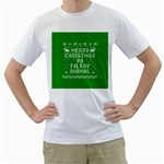 Ugly Christmas Ya Filthy Animal Men s T-Shirt (White)  Front
