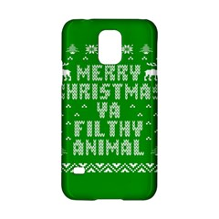 Ugly Christmas Ya Filthy Animal Samsung Galaxy S5 Hardshell Case