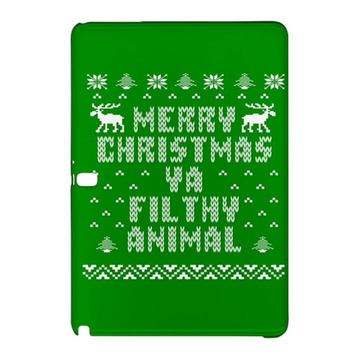 Ugly Christmas Ya Filthy Animal Samsung Galaxy Tab Pro 10.1 Hardshell Case