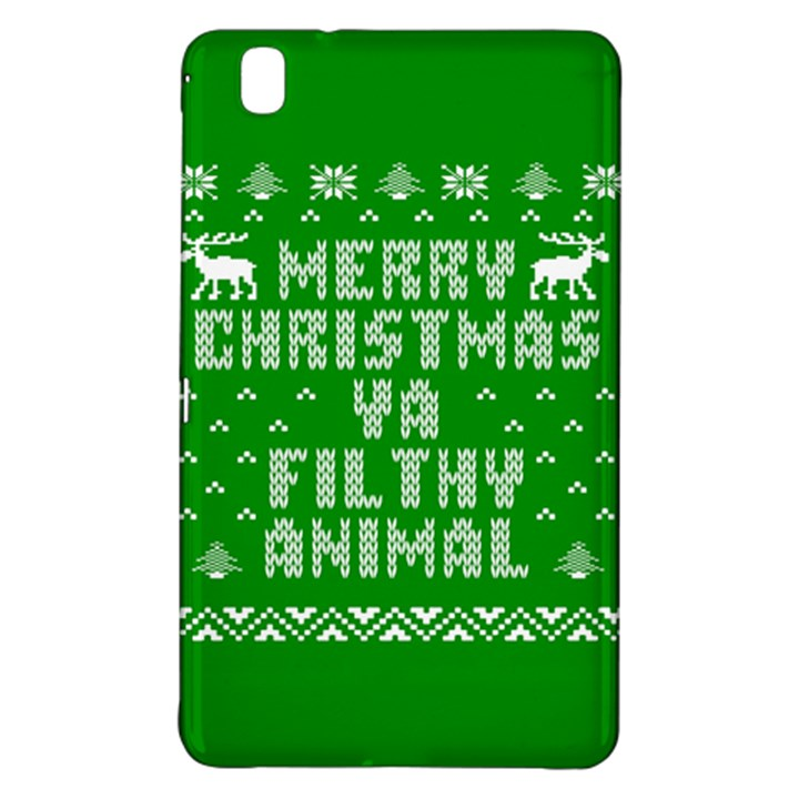 Ugly Christmas Ya Filthy Animal Samsung Galaxy Tab Pro 8.4 Hardshell Case