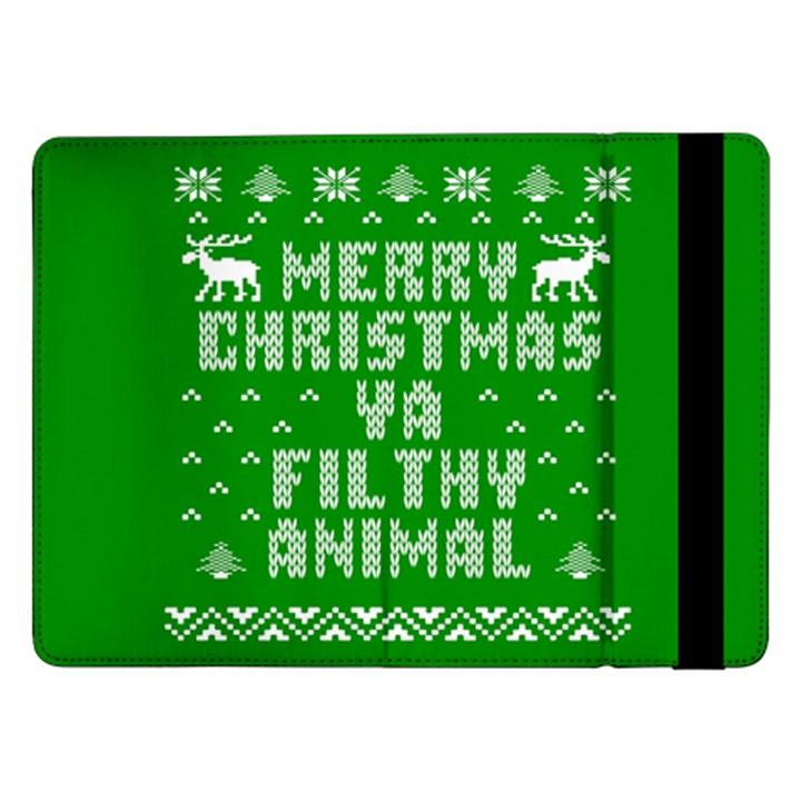 Ugly Christmas Ya Filthy Animal Samsung Galaxy Tab Pro 12.2  Flip Case