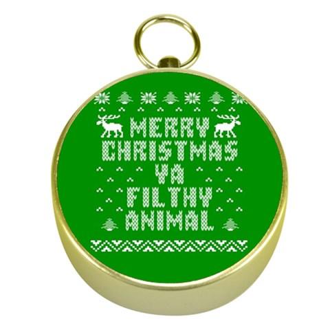 Ugly Christmas Ya Filthy Animal Gold Compasses