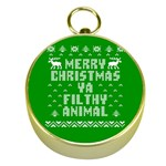 Ugly Christmas Ya Filthy Animal Gold Compasses Front
