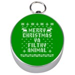 Ugly Christmas Ya Filthy Animal Silver Compasses Front