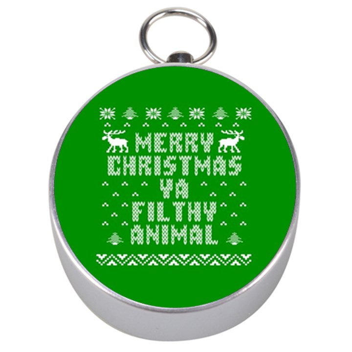 Ugly Christmas Ya Filthy Animal Silver Compasses