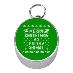 Ugly Christmas Ya Filthy Animal Mini Silver Compasses