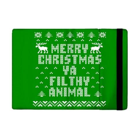Ugly Christmas Ya Filthy Animal iPad Mini 2 Flip Cases