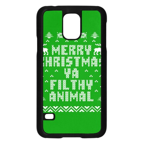 Ugly Christmas Ya Filthy Animal Samsung Galaxy S5 Case (Black)