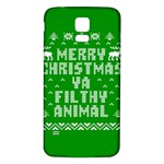Ugly Christmas Ya Filthy Animal Samsung Galaxy S5 Back Case (White) Front