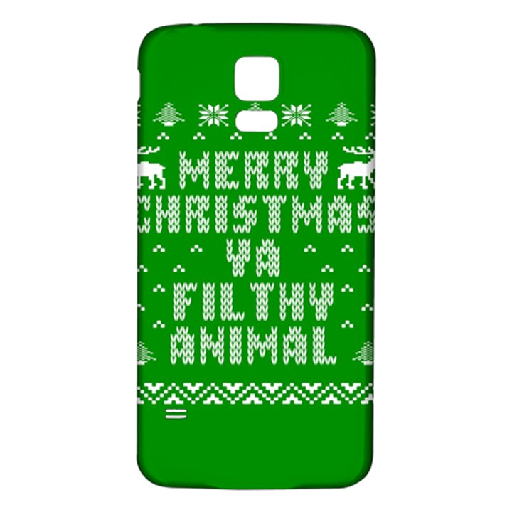 Ugly Christmas Ya Filthy Animal Samsung Galaxy S5 Back Case (White)