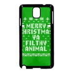 Ugly Christmas Ya Filthy Animal Samsung Galaxy Note 3 Neo Hardshell Case (Black) Front
