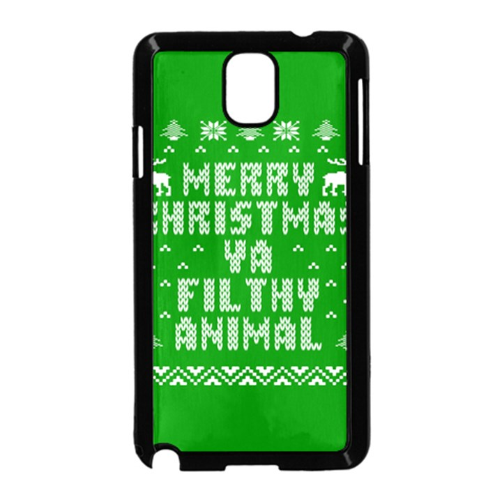 Ugly Christmas Ya Filthy Animal Samsung Galaxy Note 3 Neo Hardshell Case (Black)