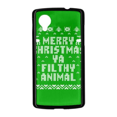 Ugly Christmas Ya Filthy Animal Nexus 5 Case (Black)