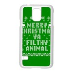 Ugly Christmas Ya Filthy Animal Samsung Galaxy S5 Case (White) Front