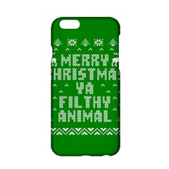 Ugly Christmas Ya Filthy Animal Apple iPhone 6/6S Hardshell Case