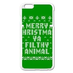 Ugly Christmas Ya Filthy Animal Apple iPhone 6 Plus/6S Plus Enamel White Case