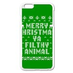 Ugly Christmas Ya Filthy Animal Apple iPhone 6 Plus/6S Plus Enamel White Case Front