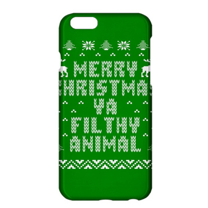 Ugly Christmas Ya Filthy Animal Apple iPhone 6 Plus/6S Plus Hardshell Case