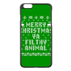Ugly Christmas Ya Filthy Animal Apple iPhone 6 Plus/6S Plus Black Enamel Case