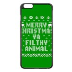 Ugly Christmas Ya Filthy Animal Apple iPhone 6 Plus/6S Plus Black Enamel Case Front