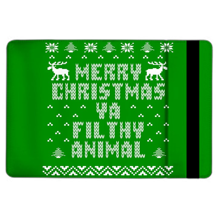 Ugly Christmas Ya Filthy Animal iPad Air 2 Flip