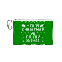 Ugly Christmas Ya Filthy Animal Canvas Cosmetic Bag (S)