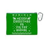 Ugly Christmas Ya Filthy Animal Canvas Cosmetic Bag (M) Back