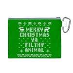 Ugly Christmas Ya Filthy Animal Canvas Cosmetic Bag (L) Back