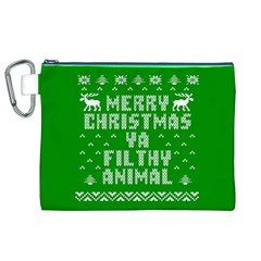 Ugly Christmas Ya Filthy Animal Canvas Cosmetic Bag (XL)