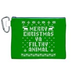 Ugly Christmas Ya Filthy Animal Canvas Cosmetic Bag (XL) Front