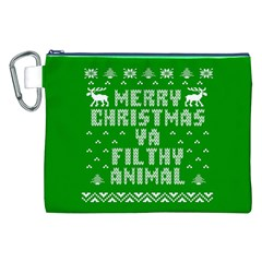 Ugly Christmas Ya Filthy Animal Canvas Cosmetic Bag (XXL)