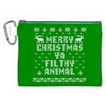 Ugly Christmas Ya Filthy Animal Canvas Cosmetic Bag (XXL) Front