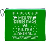 Ugly Christmas Ya Filthy Animal Canvas Cosmetic Bag (XXXL) Front