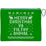 Ugly Christmas Ya Filthy Animal Canvas Cosmetic Bag (XXXL) Back