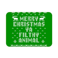 Ugly Christmas Ya Filthy Animal Double Sided Flano Blanket (Mini)