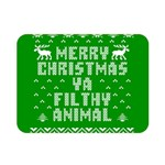 Ugly Christmas Ya Filthy Animal Double Sided Flano Blanket (Mini)  35 x27 Blanket Front