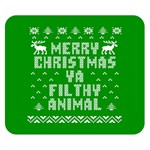 Ugly Christmas Ya Filthy Animal Double Sided Flano Blanket (Small)  50 x40 Blanket Front