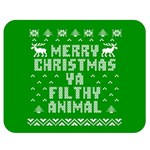 Ugly Christmas Ya Filthy Animal Double Sided Flano Blanket (Medium)  60 x50 Blanket Front