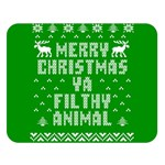Ugly Christmas Ya Filthy Animal Double Sided Flano Blanket (Large)  80 x60 Blanket Front