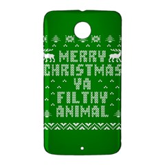 Ugly Christmas Ya Filthy Animal Nexus 6 Case (White)