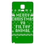 Ugly Christmas Ya Filthy Animal Galaxy Note 4 Back Case Front
