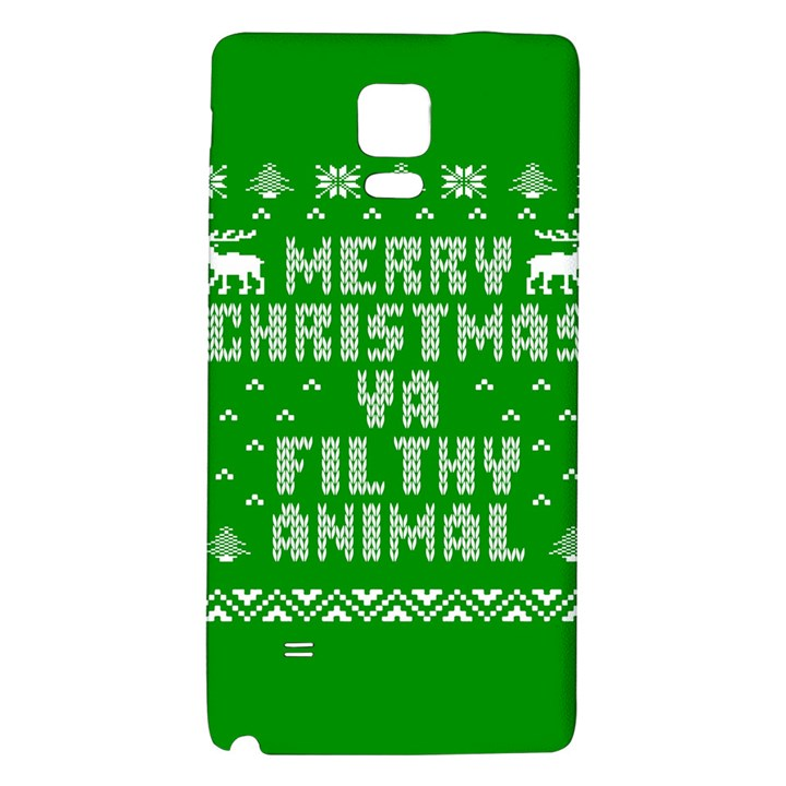 Ugly Christmas Ya Filthy Animal Galaxy Note 4 Back Case