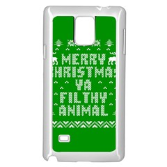 Ugly Christmas Ya Filthy Animal Samsung Galaxy Note 4 Case (white)