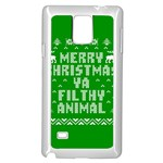 Ugly Christmas Ya Filthy Animal Samsung Galaxy Note 4 Case (White) Front