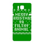 Ugly Christmas Ya Filthy Animal Samsung Galaxy Alpha Hardshell Back Case Front