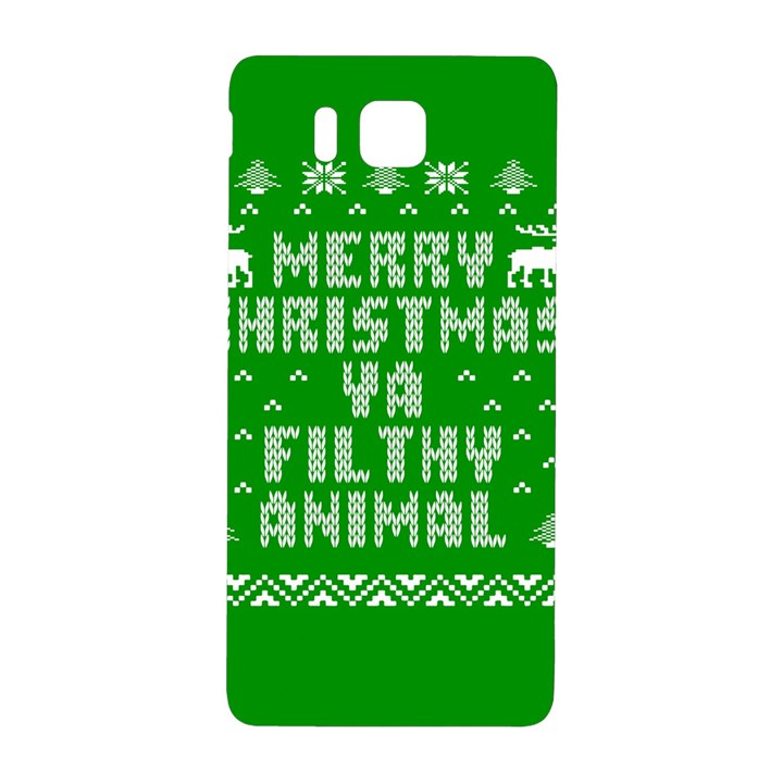 Ugly Christmas Ya Filthy Animal Samsung Galaxy Alpha Hardshell Back Case