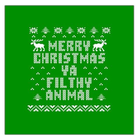 Ugly Christmas Ya Filthy Animal Large Satin Scarf (Square)