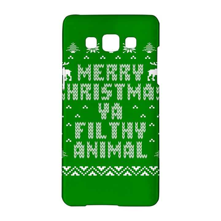 Ugly Christmas Ya Filthy Animal Samsung Galaxy A5 Hardshell Case