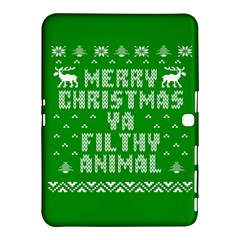 Ugly Christmas Ya Filthy Animal Samsung Galaxy Tab 4 (10 1 ) Hardshell Case