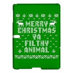 Ugly Christmas Ya Filthy Animal Samsung Galaxy Tab S (10.5 ) Hardshell Case